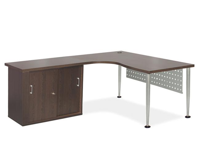 24-7 Cluster Desk Sliding Credenza  Wenge