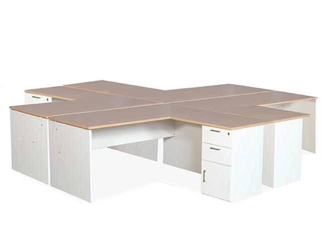 365 4 Way Cluster Desk High Pedestal