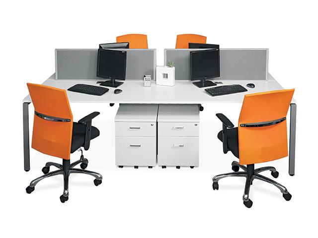Litebeam Desk 4 Way Mobile Pedestals
