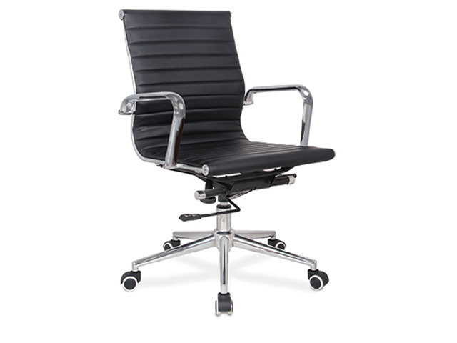 Pasquale Chair Mid Back Black