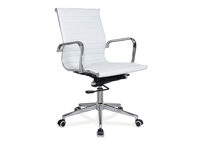 Pasquale Chair Mid Back White