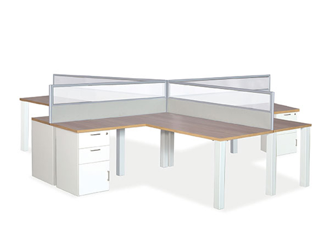 Quattro-Lite Desk 4 Way Workstation