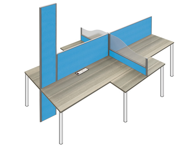 Perimeter Desk Base Screens